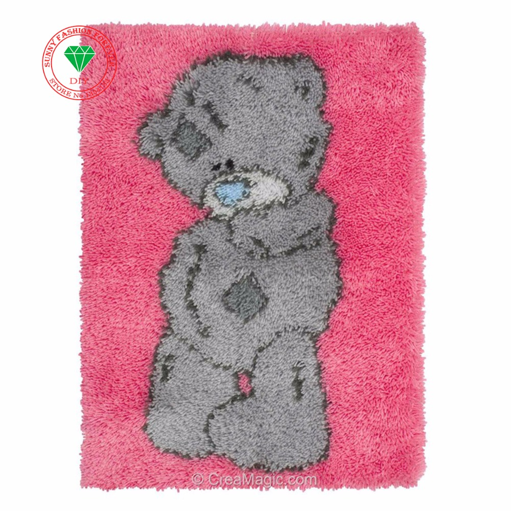Needlework Latch hook rug kits rugs carpets embroidery Felt Craft Stitch thread Carpet embroidery Thread embroidery cushion BearNeedlework Latch hook rug kits rugs carpets embroidery Felt Craft Stitch thread Carpet embroidery Thread embroidery cushion Bear