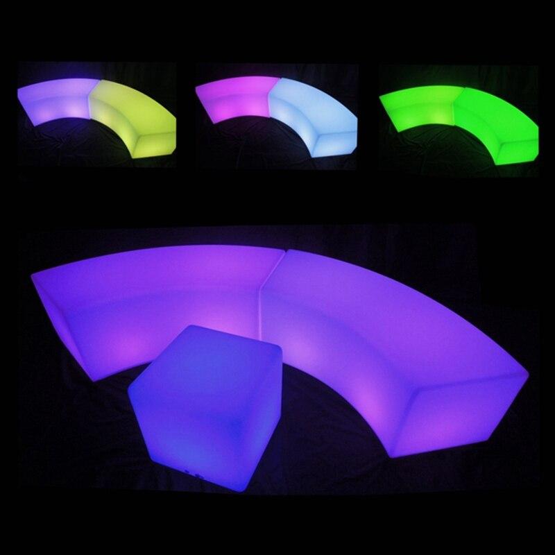 L120 * W43 * H43cm светодиодный барный стул, табурет 16 цветов, меняющая светодиодная барная мебель, водонепроницаемая перезаряжаемая PE RGBW Заводска