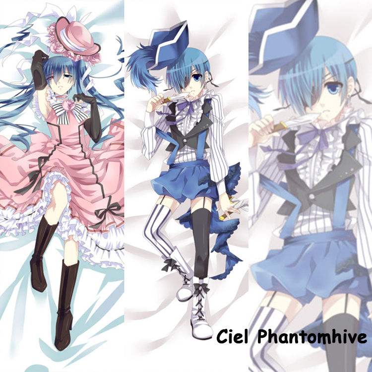Cute Japanese Anime Pillowcase Black Butler Ciel Phantomhive Cool Male BL Pillow Case decorative Hugging Body - fans store
