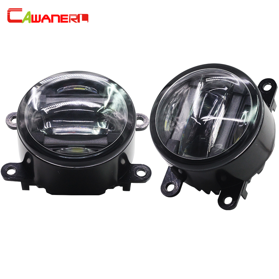 Cawanerl 2 Pieces Car Light Source Fog Light LED DRL Daytime Running Lamp High Quality For