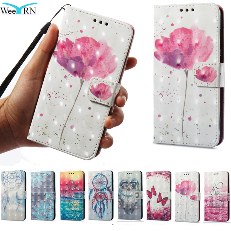 3d Bling Flowers Flip Leather Case For Xiaomi Redmi 4x 5a 5 Plus Redmi Note 4x 4 Stand Wallet Cover Redmi Note 5 Pro 5a Prime
