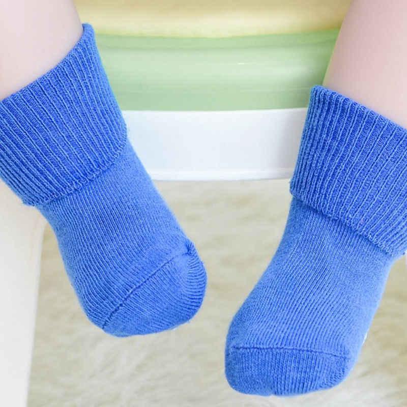 Antypoślizgowe skarpety dziecięce gumki Unisex Baby Girl & Boy skarpetki dla noworodka nowy jednolity kolor niemowlę maluch bawełna dziecko Sokken 0 ~ 6Y dzieci miękkie