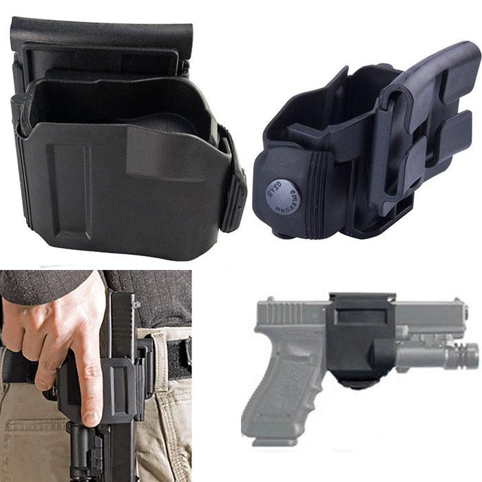 Tactical 360 Rotation Belt Clip Right Hand MOLLE Holster Hike for G 17 19 22 23