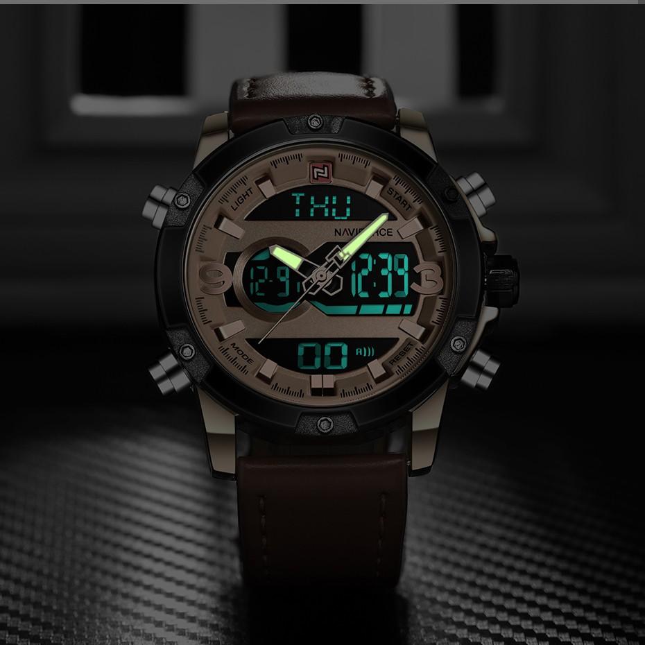 Top Luxury Brand NAVIFORCE Men Sport Watches Men's Quartz LED Analog Clock Man Military Waterproof Wrist Watch relogio masculino 6