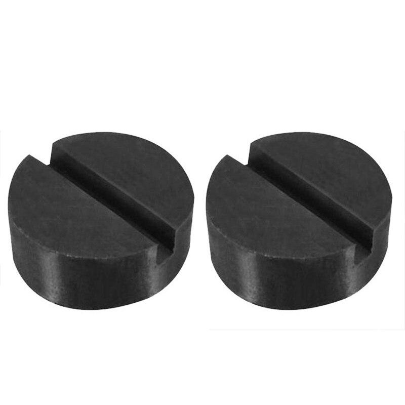 Black 2pcs Car Jack Pad Rubber Frame Rail Stand Jacking Mat Adapter Rubber Maintenance Car Repair Tools Accessories