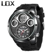LOX Men Fashion & Casual Analog Digital Watch Dual Display M