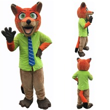 Nick Fox clothing  cartoon mascot costume Fancy Animal Cartoon Character Carnival Costume  Halloween party zootopia fox nick fancy dress adult mascot costume