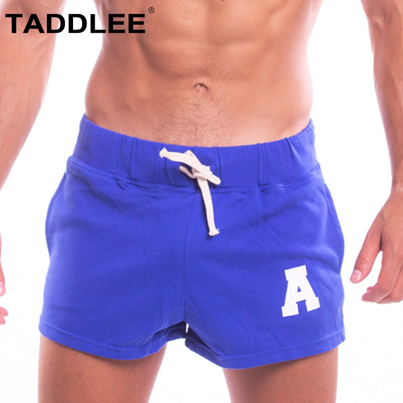 Taddlee Brand Sexy Mens Shorts Gay Short Cotton Pockets Low Rise Red Color Boxer Trunks Plus Size Cargo Sweatpants Men
