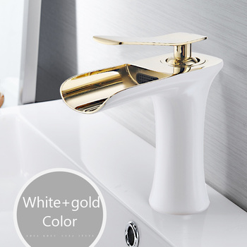 Basin Faucets Waterfall Bathroom Faucet Single handle Basin Mixer Tap Bath Antique Faucet Brass Sink Water Crane Silver 6009 9