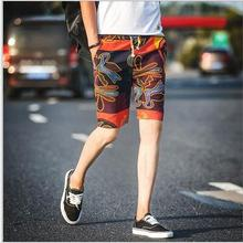 The youth popular many color printing leisure shorts men s large size Korean version of the
