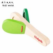Orff World прекрасные кастаньеты детские деревянные кастаньеты Хлопушка ручка музыкальный инструмент Дошкольное раннее образование игрушка