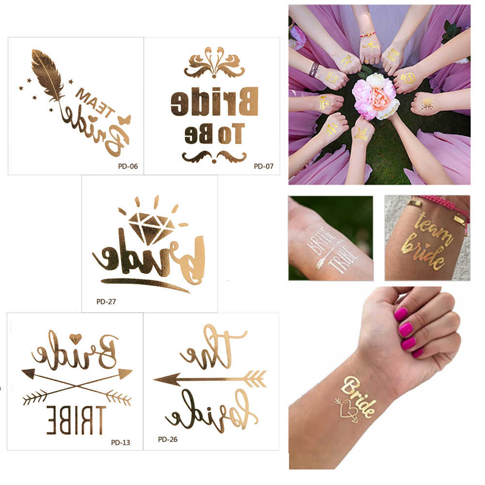 82d30069c8350 10pcs Marriage Tribe Bachelorette Temporary Tattoos Wedding Decorations  Event Hen Party Accessories Team Bride To Be