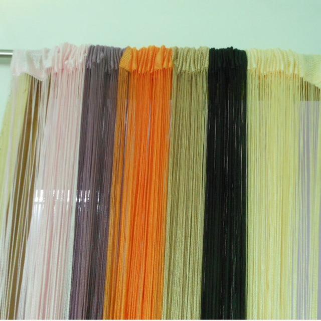 Tangpan 100cmx200cm Fringe Door Curtain Window Panel Room Divider Hanging  String Curtain Strip Tassel 2x1m/