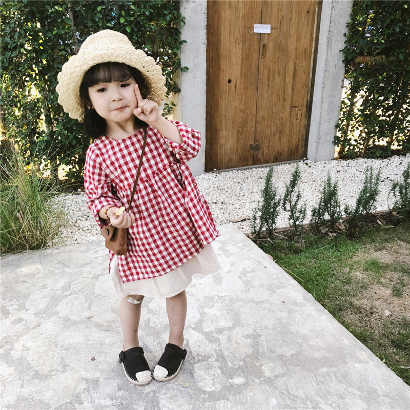 Celveroso Kinder Baby Mädchen rot casual Plaid Blusen & Shirts baby mädchen 2019 neue stil top plaid shirt kleid baby prinzessin Kleid