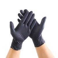 100 шт черные одноразовые латексные перчатки садовые перчатки для домашней уборки резиновые пищевые перчатки тату перчатки