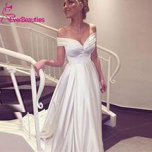 Свадебные платья robe de mariee 2020 атласные свадебные с открытыми