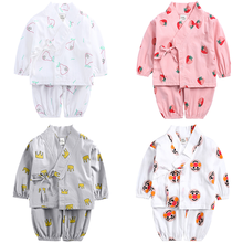 цены Baby Boys Girls Clothes Spring Kids Cartoon Print Clothes Sets Long Sleeve T-shirt+pants 2pcs Monk Clothes Newborn Home Suits
