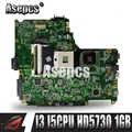 Asepcs N61JA carte mère d'ordinateur portable pour ASUS N61J N61JA N61JQ carte mère REV2.1 Support entièrement testé i3 i5 CPU HD5730 1GB