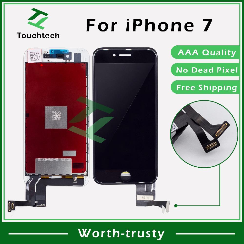 """Prix pour 2 PCS/LOT 4.7 """"blanc et Noir iPhone 7 LCD pour iPhone 7 Remplacement Écran LCD Pas Dead Pixel Affichage avec Tactile Digitizer Assemblée"""