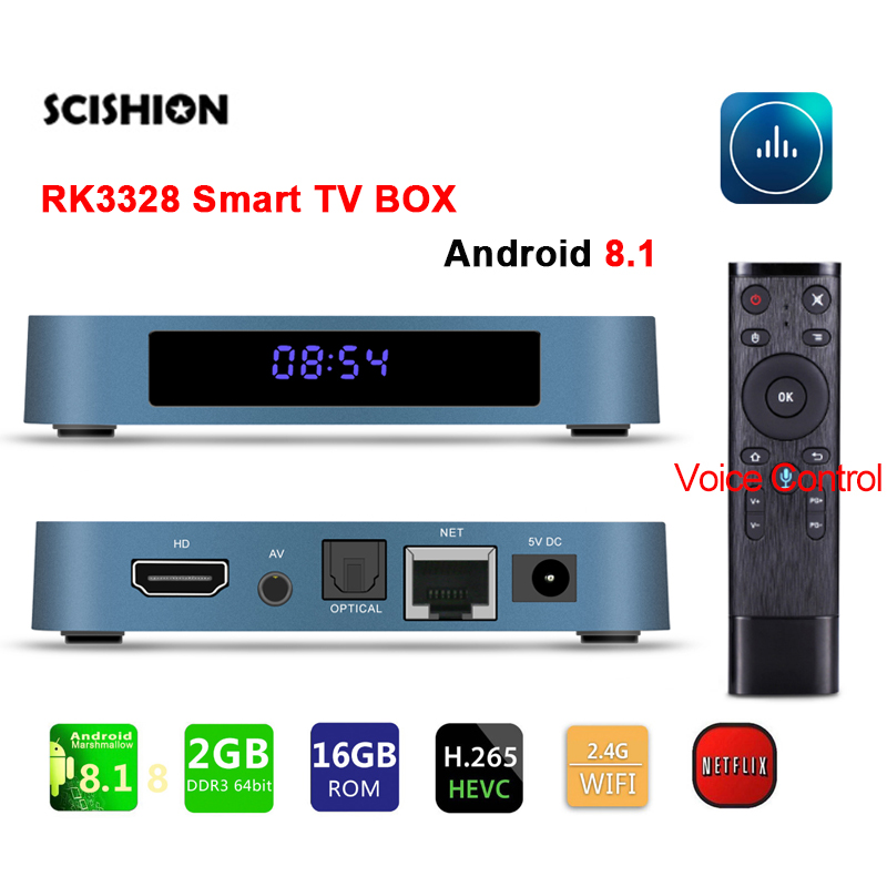849c46fd47d SCISHION Android 8.1 Smart TV BOX RK3228 4G DDR3 32G EMMC ROM Set Top Box  4K 3D H.265 Wifi media player TV Receiver IPTV BOX