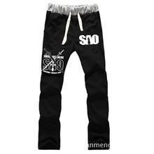 Anime Sword Art Online LOVERS pure cotton pants sports casual trousers cosplay gift NEW Fashion