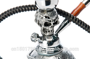 Image 5 - คุณภาพดี Skull HEAD ขนาดเล็ก Hookah ทำจากเรซิ่น 1 ท่อถ่าน Shisha EKJ H1003