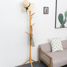 1 Pcs High Quality Solid Wood Coat Storage Rack Simple Floor Type Clothes Organizer Creative Living Room Bedroom Hanger 175CM modern simple coat rack floor standing coat hat rack bedroom living room clothes hanger hanging storage clothes racks