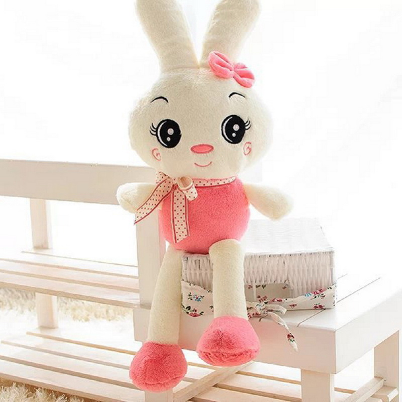 Rabbit Plush Toys Doll Kids Gifts 3 Color,26cm Bunny Stuffed Animal Big Eye Cute Rabbit With Gift Box, Birthday Gifts 28inch giant bunny plush toy stuffed animal big rabbit doll gift for girls kids soft toy cute doll 70cm