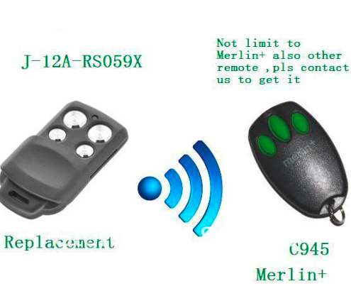 Merlin Plus c945 craw remote replacement ,Merlin Plus remote ,Merlin plus transmitter openers after market merlin plus compatible remote suit c945 940 933 dhl free shipping