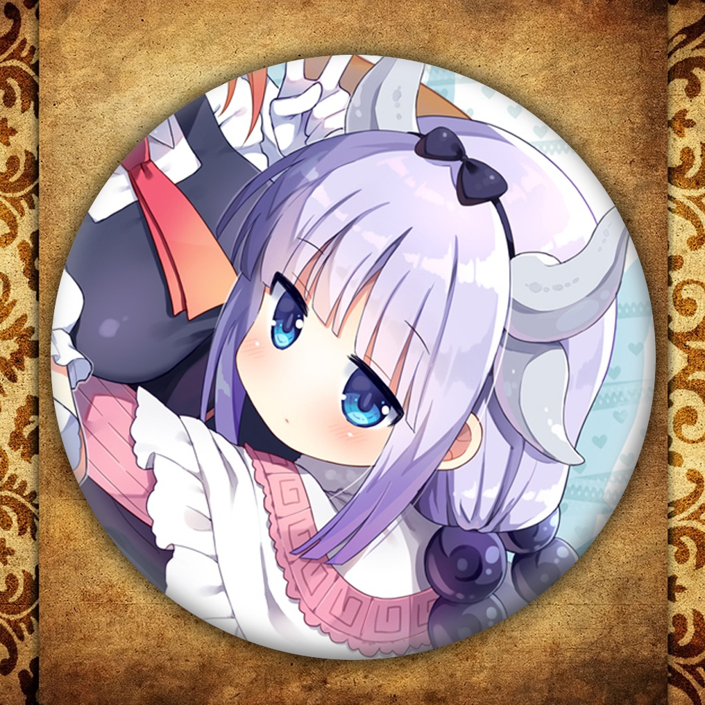 Anime Miss Kobayashi 39 s Dragon Maid Display Badge Fashion Japanese Cartoon Figure Kanna Brooch Pins Collections Bag Decoration in Brooches from Jewelry amp Accessories