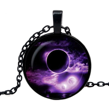 2019 new hot purple moon glass pendant full necklace space nebula Traveler Gift Pendant I Camp