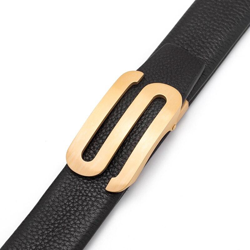 Cinturón de cuero genuino de cuero de vaca hebilla automática de diseñador para hombres de alta calidad cinturón de marca de lujo cumpleaños presente - 6
