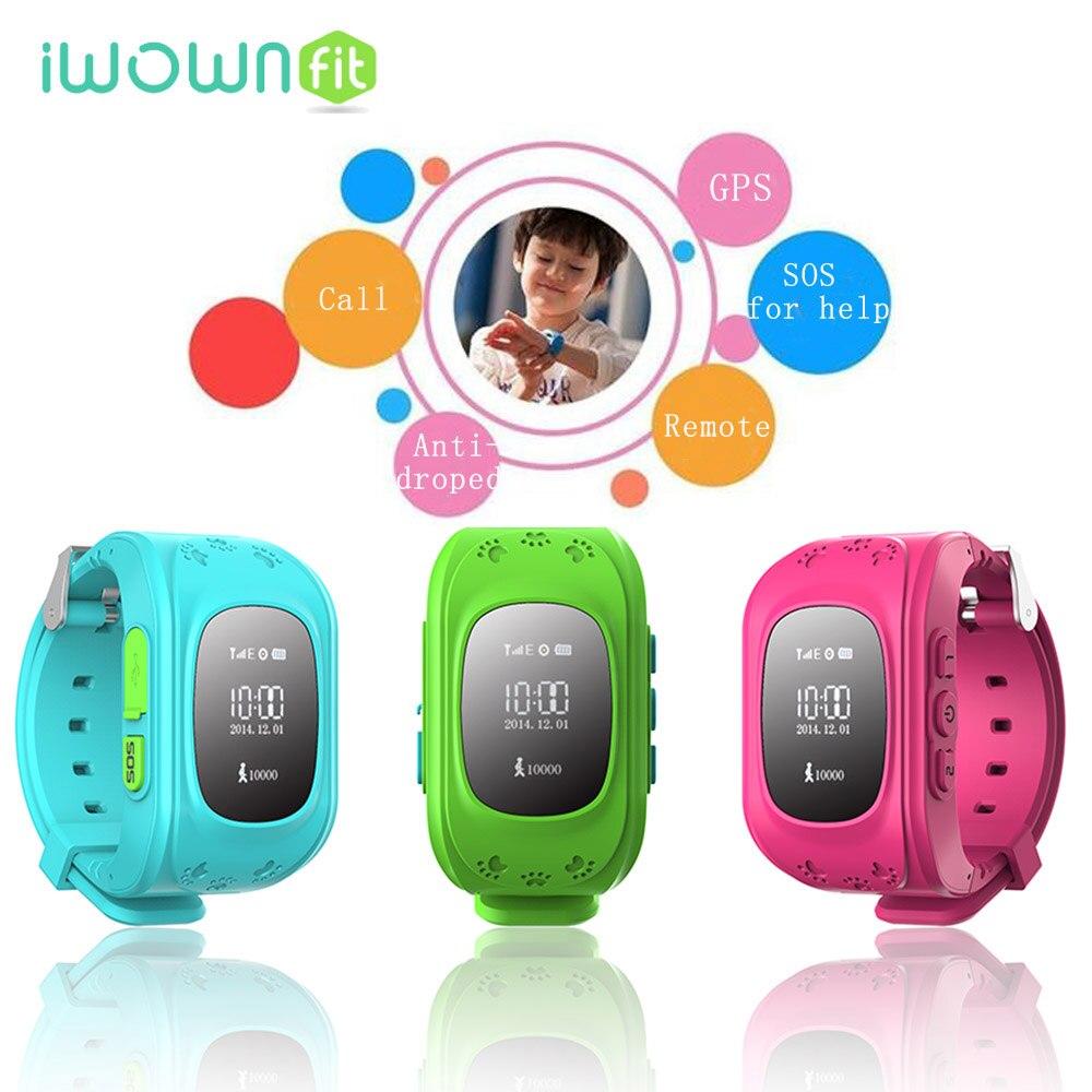 Iwownfit маленьких GPS часы GPS дети часы-телефон сим-карта для Smart Watch SOS вызова Расположение Finder Анти потерял Q50