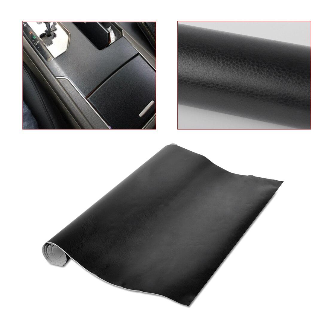 белер 150x50cm черный искусственной кожи текстура пленка обернуть рулон наклейка для авто автомобиль для VW Форд Ауди БМВ Шевроле
