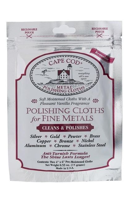 Cape Cod cleans Polishing Cloths for fine metals - Twin Pack for jewelry watch