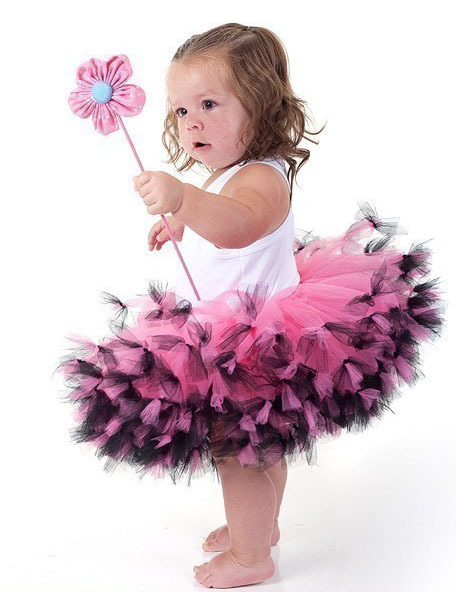 Newest tutu fluffy  tulle kids children pink Photography girl skirt toddler baby costume ball gown party ballet dance pettiskirt