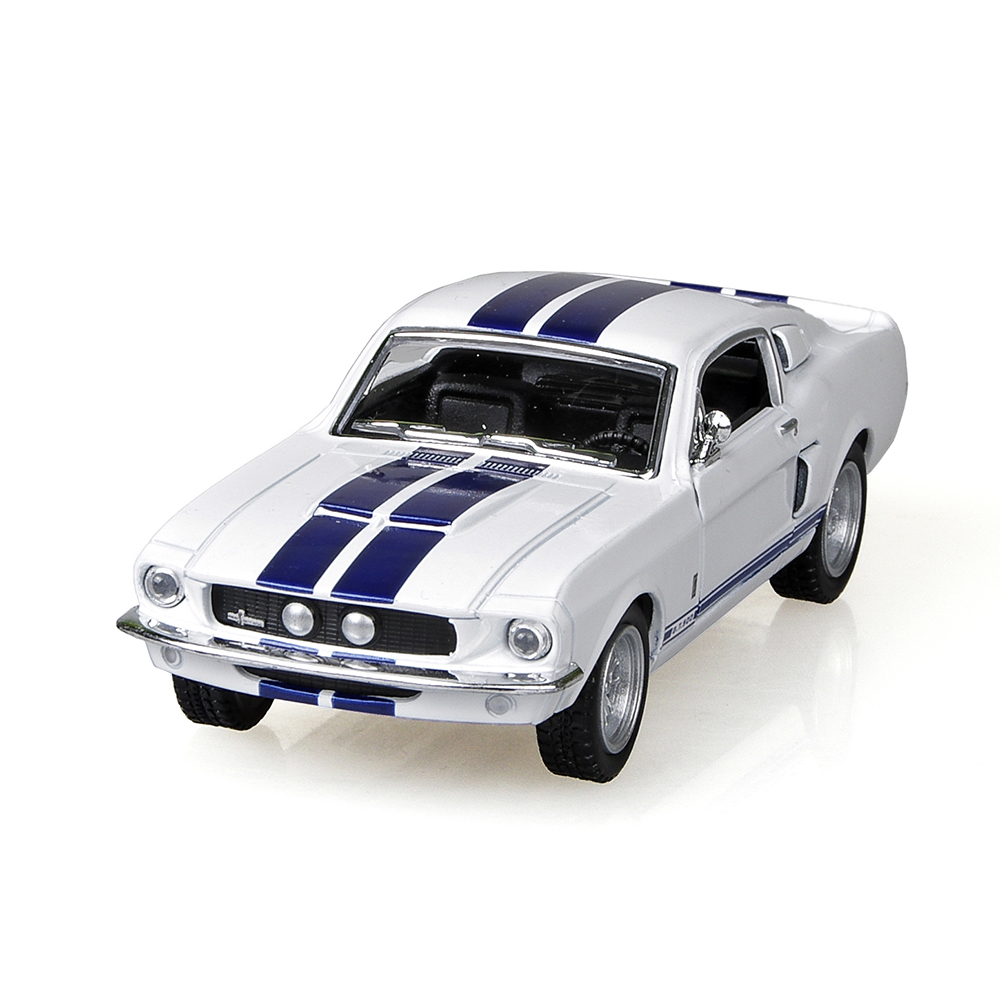 mustang shelby gt500 1967 white 138 alloy models diecast metal pull back car toy