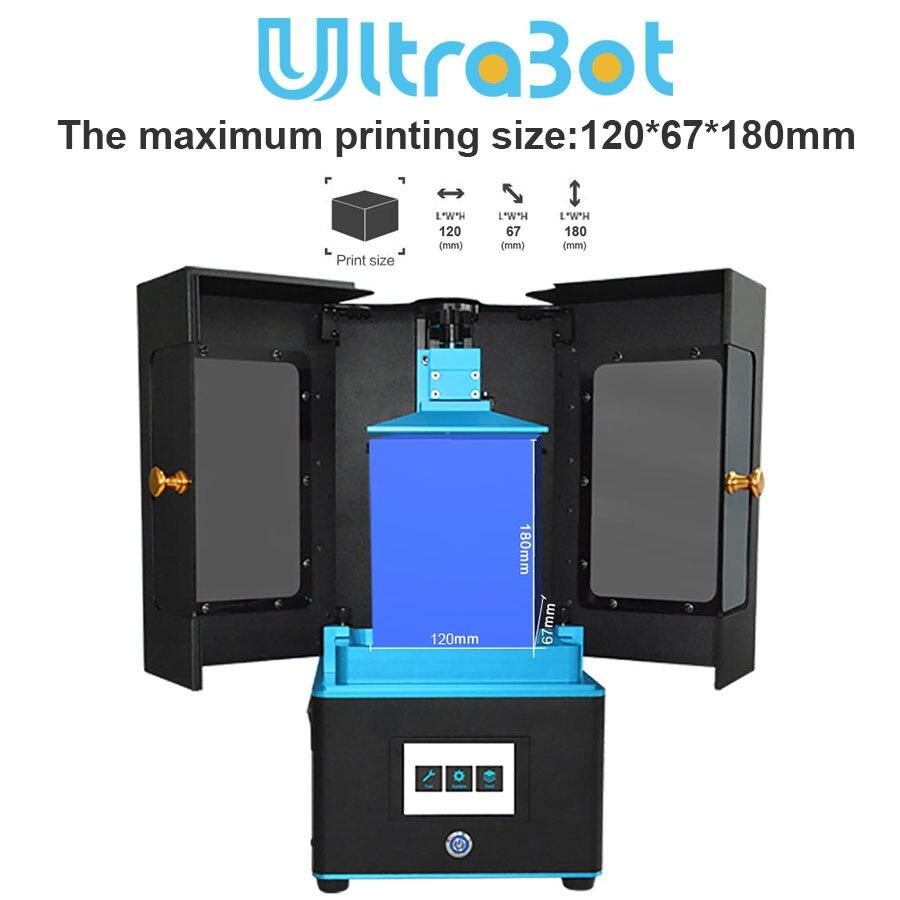 2019 TRONXY Ultrabot 5.5 polegada 2 K LCD Luz UV-Cura 3d Modelo de Impressora Impressão De Alta Precisão com 250 ml de Resina como o presente