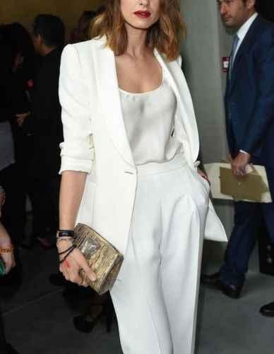 1045fbc2293 Белый для женщин дамы бизнес офисные смокинги для формальные модные  повседневная обувь Костюм bespoke брюки костюмы