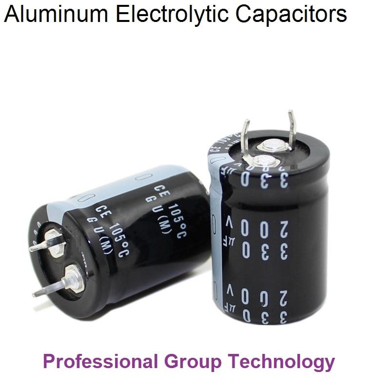 6pcs RA2 Good Quality 200v330uf Radial DIP Aluminum Electrolytic Capacitors 200v 330uf Tolerance 20% Size 22x30MM 20%