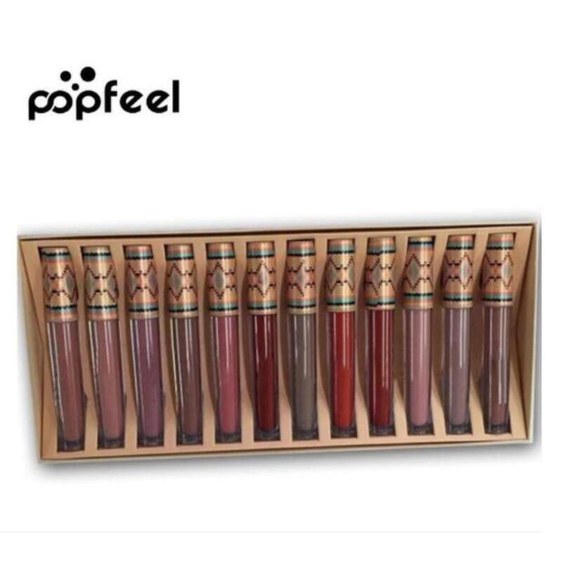 2018 Hot Makeup Matte Lipsticks 12 colors Lipstick Don't Rub off Lip Gloss Matte Natural Long Lasting Liquid lipstick