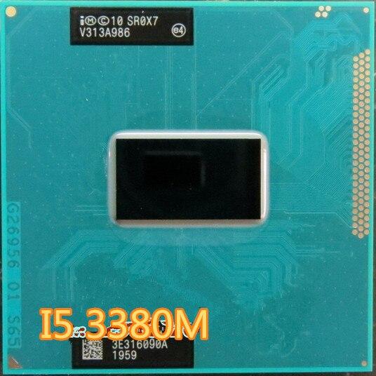 Intel Core i5 3380 M 2.9 GHz 3 M double coeur SR0X7 processeurs pour ordinateur portable CPU PGA 988 socket G2