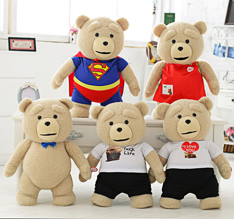 Teddy bear plush dolls, Children's toy doll, Stuffed animals, Filling and plush toys, Stuffed Toys,Plush Animals 2016 movie teddy bear ted 2 plush toys in apron soft stuffed animals plush 45cm