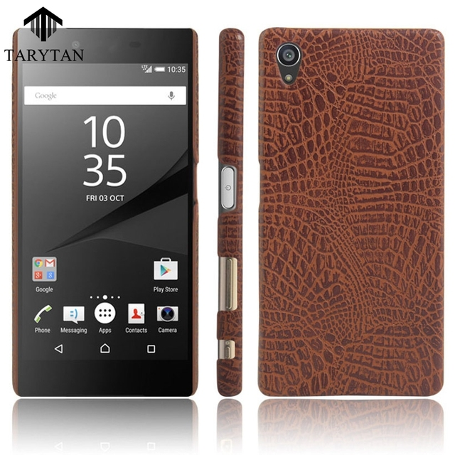 new style 3b7b3 d6b5f US $3.52 |TaryTan Crocodile Pattern Phone Covers For Sony Xperia Z5 Premium  Z5 Plus E6853 Dual E6833 E6883 Cases Paste PU PC Bags Back-in Half-wrapped  ...
