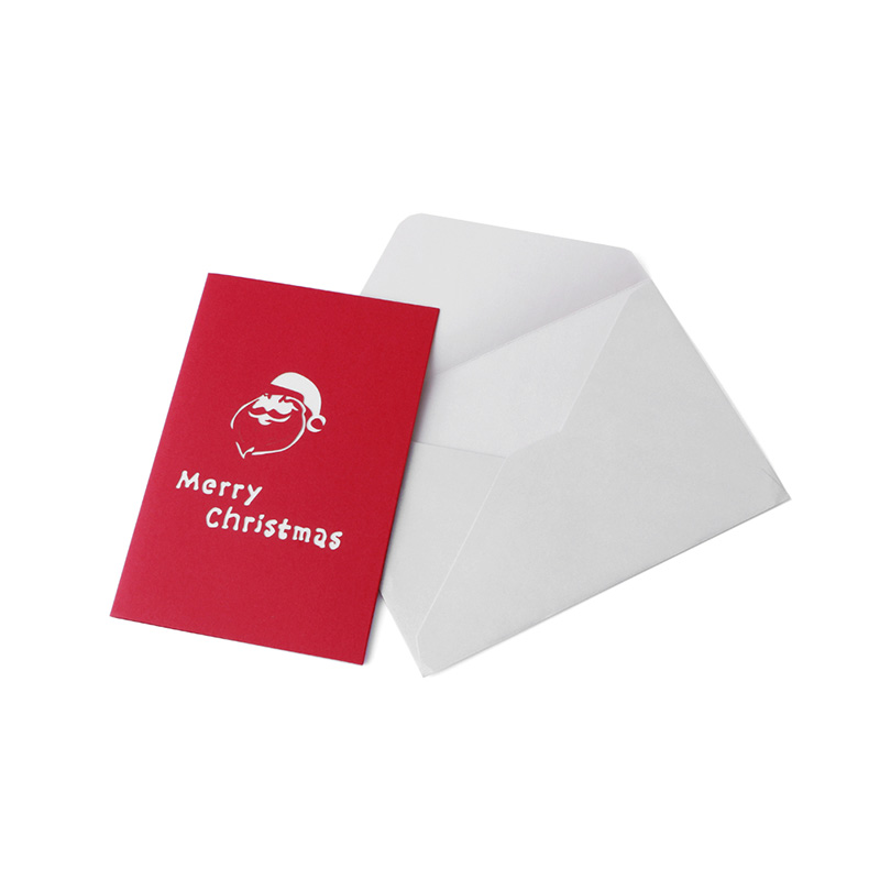 3d Pop Up Santas Sleigh Greeting Card Merry Christmas Wedding Postcard Gift Hot Smoothing Circulation And Stopping Pains Bands Without Stones
