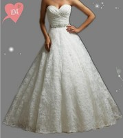 Embroidery Corset Strapless White Ivory Gown With Crystal Beads Wedding Dresses 2015 Bridal Dress Plus Size