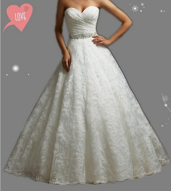 Plus Size Wedding Dresses Va : Embroidery corset strapless white ivory gown with crystal