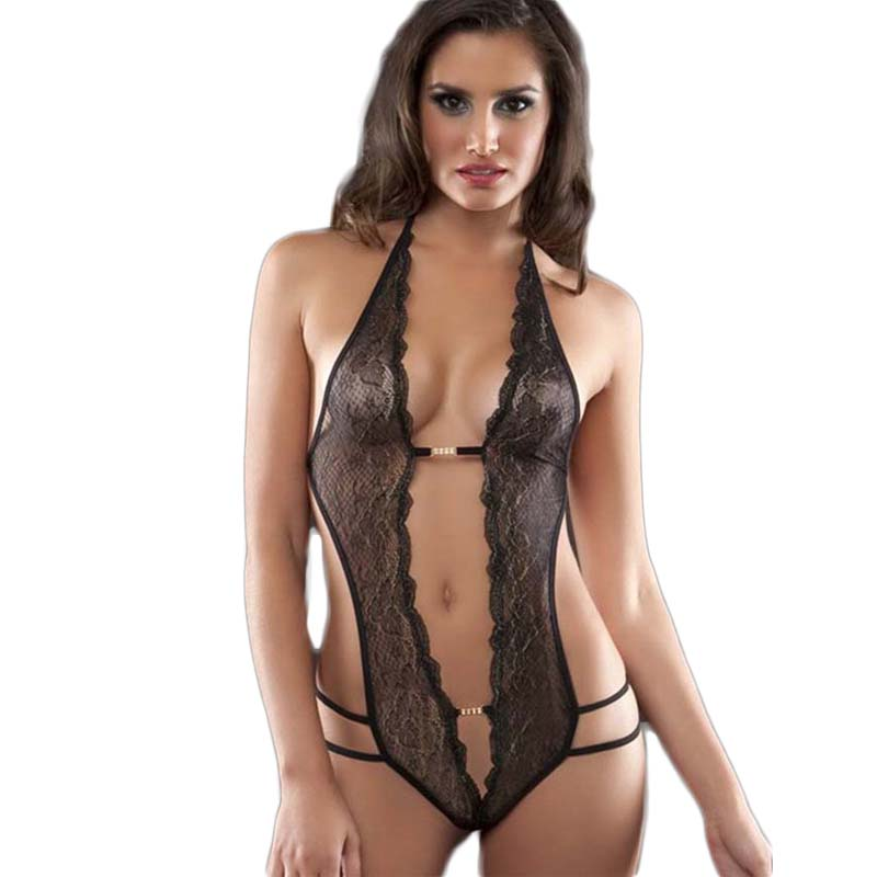 RH80083 Crotchless lace teddy lingerie with rhinestone black red pink body  sexy new arrivals hollow out women erotic products-in Babydolls   Chemises  from ... 21bb150cb4c