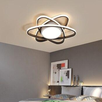 Lámpara de araña LICAN Lustre para sala de estar dormitorio de aluminio ola Lustre lámpara de techo accesorio de iluminación sala de estar