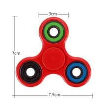 11 Types Fluoresce Tri Spinner Fidget Hand Spinner Shine Gyro Puzzle Toy Stress Relief Triangle Finger Toy Focus EDC ADHD Autism